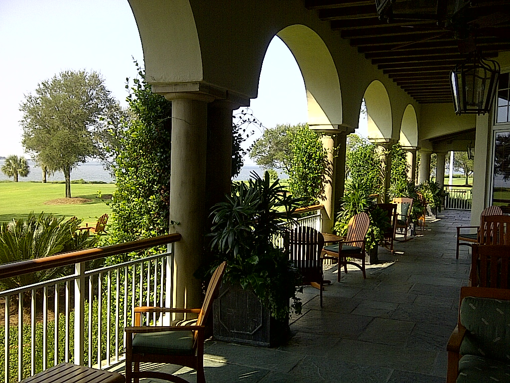 Colonade, Golf and the Sea at The Lodge